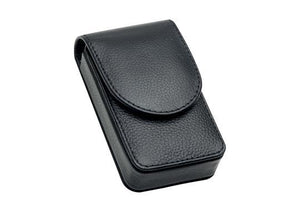 Giesen and Forsthoff razor and razor blade travel case in black leather