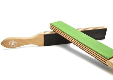 JB Tatam green and black treated paddle strop