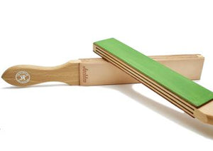 JB Tatam green and untreated paddle strop