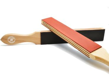 JB Tatam pre treated red and black paddle strop