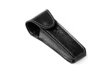Muhle safety razor travel pouch in black leather