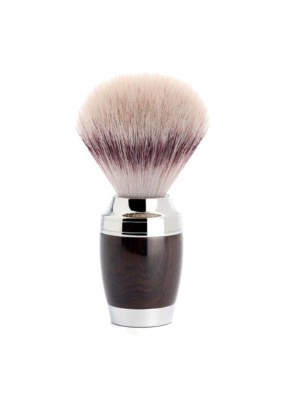 Muhle Stylo shaving brush with grenadilla wood handle and synthetic fibre bristles