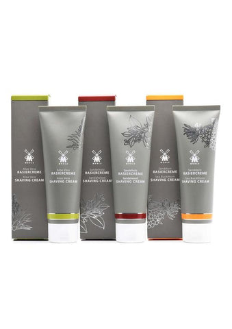 Muhle shaving creams in 75ml tubes