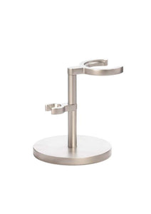 Muhle Rocca chrome shaving brush and double edge razor stand