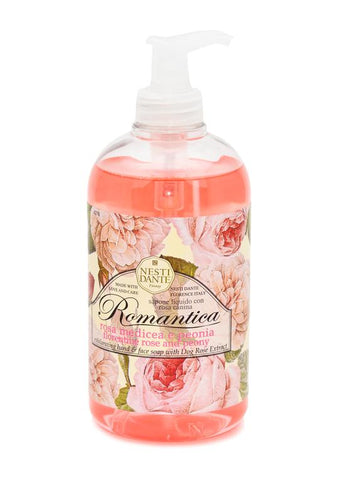 Nesti Dante romantica florentine rose and peony liquid soap