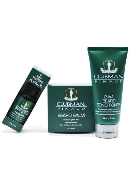 Pinaud Clubman 2 in 1 beard conditioner and facial moisturiser with beard balm and beard oil