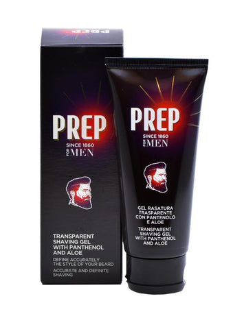 Prep shaving gel with pantheon and aloe vera