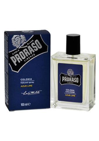 Proraso azur lime scented cologne bottle and box