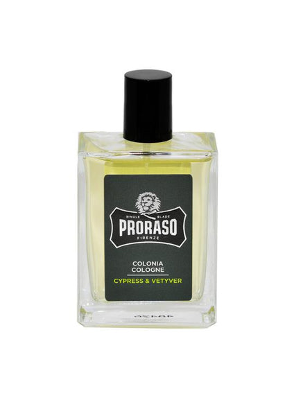 Proraso cypress and vetiver scented cologne bottle