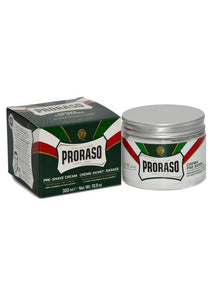 Proraso Green pre shave cream with eucalyptus oil and menthol