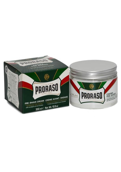 Proraso Green 300ml pre shave cream with eucalyptus oil and menthol