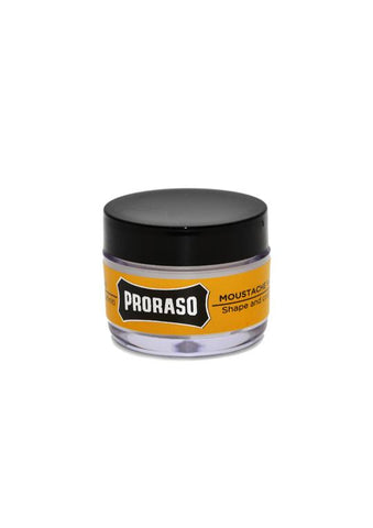 Proraso wood and spice scented moustache wax
