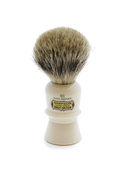 Simpson B3 shaving brush with Beaufort pure badger bristles
