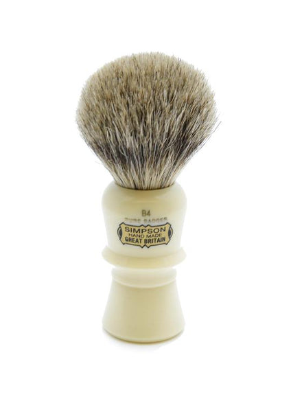 Simpson B4 shaving brush with Beaufort pure badger bristles