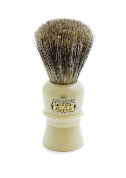 Simpson B5 shaving brush with Beaufort pure badger bristles