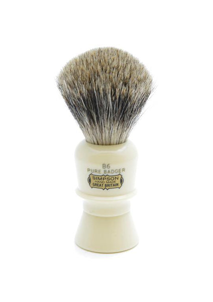 Simpson B6 shaving brush with Beaufort pure badger bristles