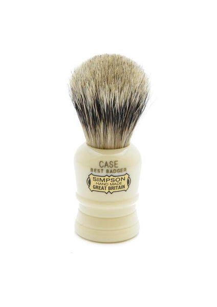 Simpson Case travel shaving brush with best badger bristles