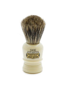 Simpson Case travel shaving brush with pure badger bristles