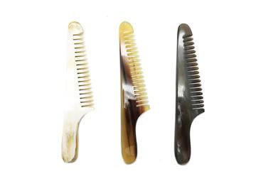 Three St James Shaving Emporium 10cm real horn beard and moustache combs