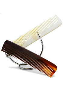 St James Shaving Emporium 170mm horn combs on a stand