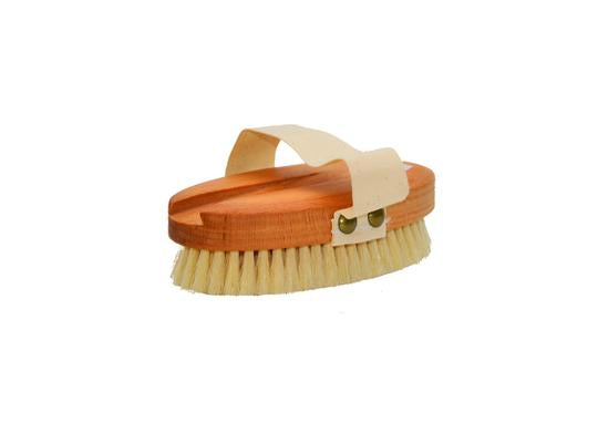 St James Shaving Emporium natural bristle bath brush with removable beechwood handle removed