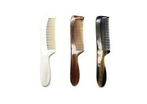 Three St James Shaving Emporium real horn beard and moustache combs