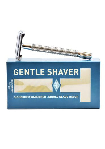 Giesen & Forsthoff, D E SAFETY RAZOR Butterfly Polished Chrome