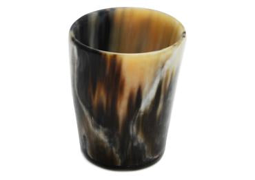 St James Shaving Emporium small and dark horn cup