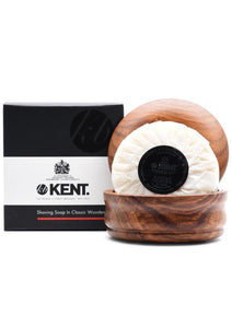 Kent, LUXURY SHAVING SOAP in Wooden Bowl