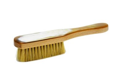 St James Shaving Emporium light horn backed clothes brush