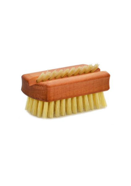 St James Shaving Emporium oiled pearwood travel sized nail brush with natural bristles