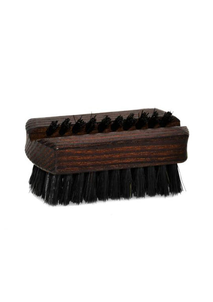 St James Shaving Emporium oiled thermowood travel size nail brush with natural black bristles