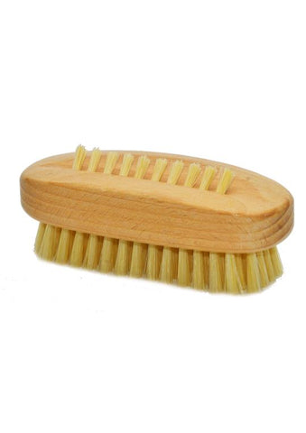 St James Shaving Emporium natural bristle nail brush with waxed beechwood