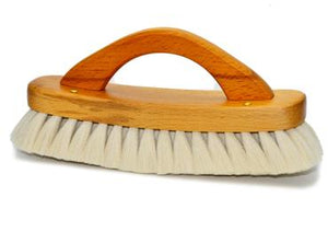 St James Shaving Emporium shoe buffing brush with handle and light bristles