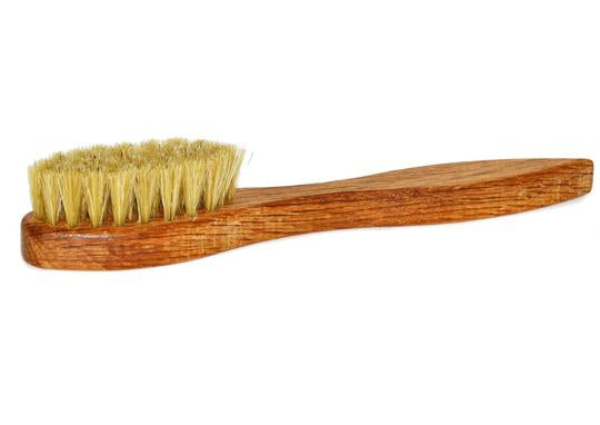 St James Shaving Emporium shoe polish applicator brush with light bristles