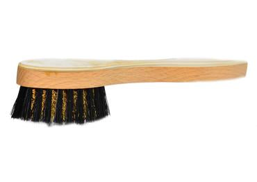 St James Shaving Emporium horn backed suede shoe brush