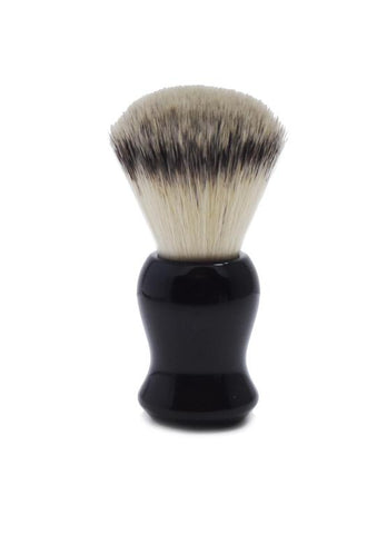 St James Shaving Emporium 501 shaving brush with synthetic fibre bristles and black handle
