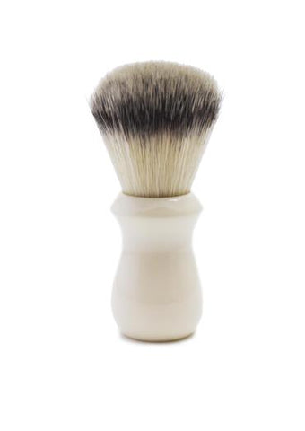 St James Shaving Emporium 502 shaving brush with synthetic fibre bristles and ivory handle