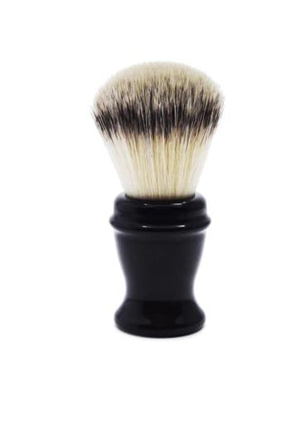 St James Shaving Emporium 504 shaving brush with synthetic fibre bristles and black handle