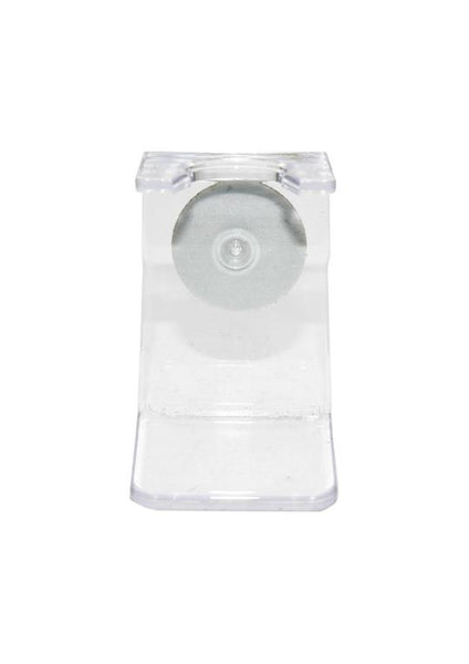 Universal clear plastic shaving brush stand