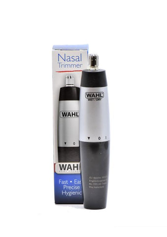Wahl electric nose trimmer next to box