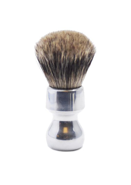 Zenith 506 shaving brush with best badger bristles and aluminium handle