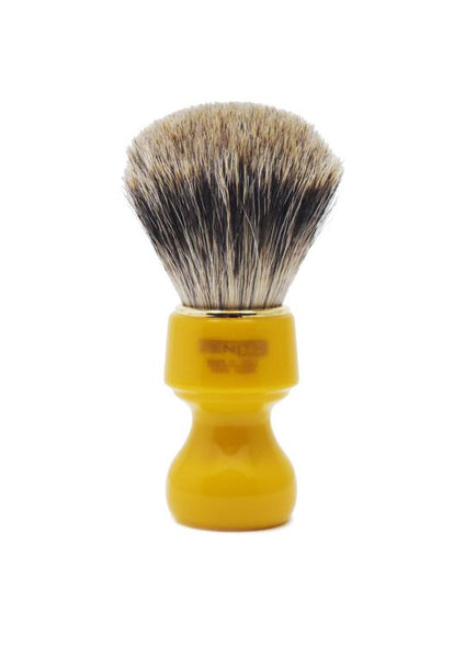 Zenith 506 shaving brush with best badger bristles and butterscotch resin handle