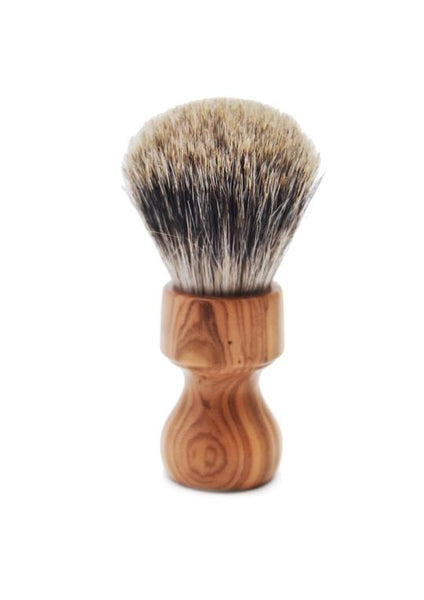 Zenith 506 shaving brush with best badger bristles and olive wood handle