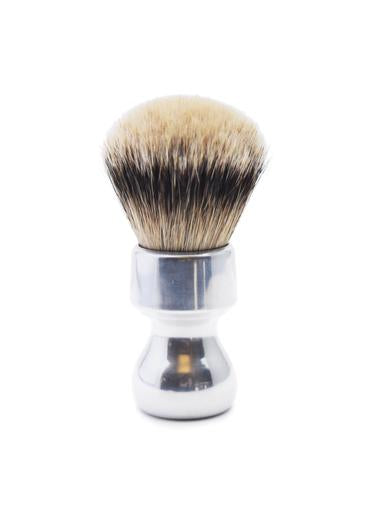 Zenith 506 shaving brushes with silvertip badger bristles and aluminium handle