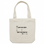 Clary Calm Down & Shut the Frank Up | Tote Bag - Blue Bubble Aroma Supplies