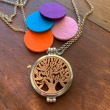 Tree of life Aromatherapy | Essential Oil Diffuser Locket Necklace - Melissa Mitchell Health & Wealth