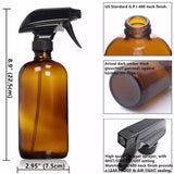 3 pack - Amber Glass Spray Bottles 500ml - Melissa Mitchell Health & Wealth