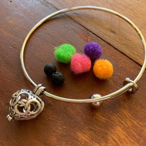 Diffuser Bangle | With Diffuser Pads and Lava Beads - Blue Bubble Aroma Supplies