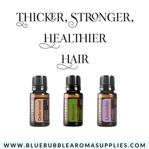 Essential Oil Trio - Healthy Hair Pack - Blue Bubble Aroma Supplies